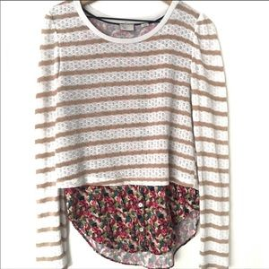 Anthropologie Postmark Mixed Media Multi Sweater